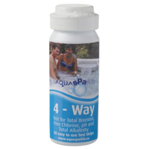 4 Way test strips for total alkalinity
