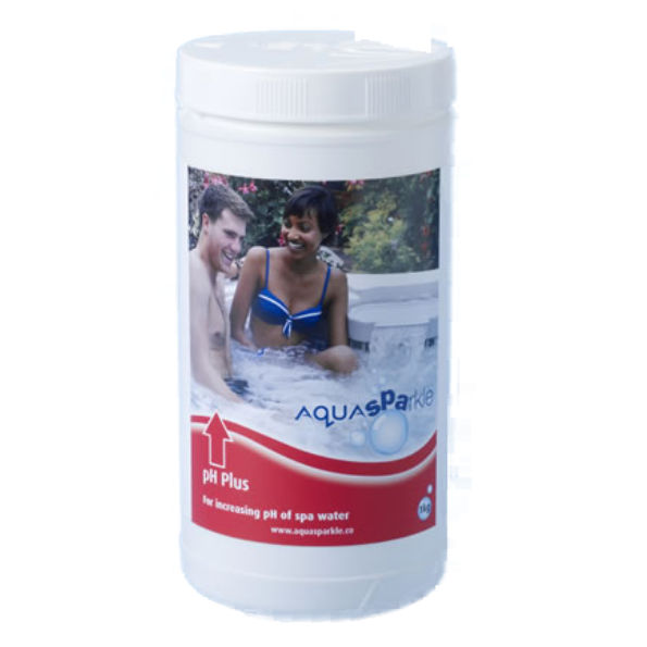AquaSparkle pH plus for increasing pH of spa water